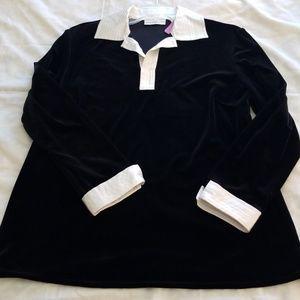 ⬇️Sale⬇️Draper's & Damon's Black and White Top